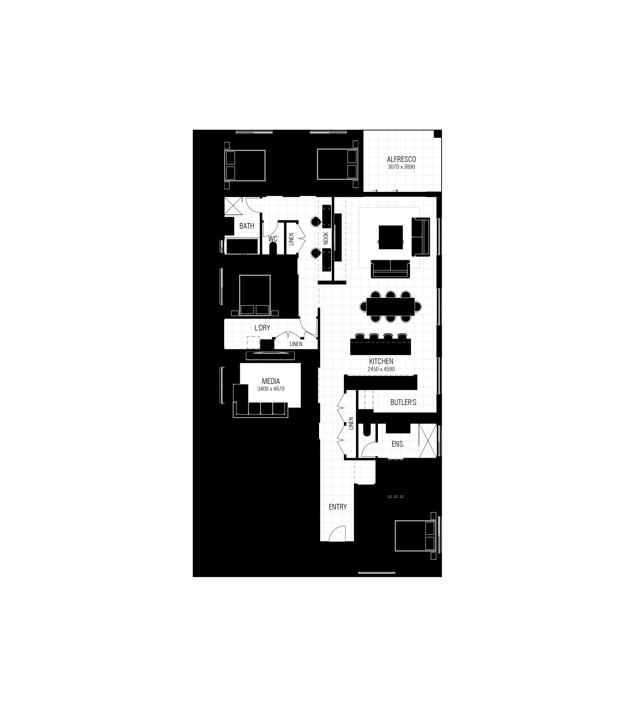 Sunset 245 - Floor Plan
