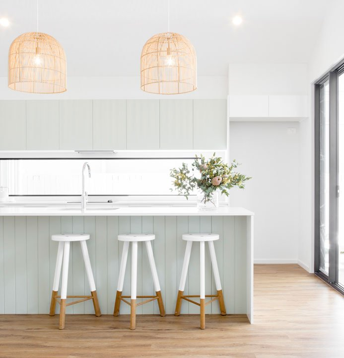 Coastal Inspired Kitchen by DC Living