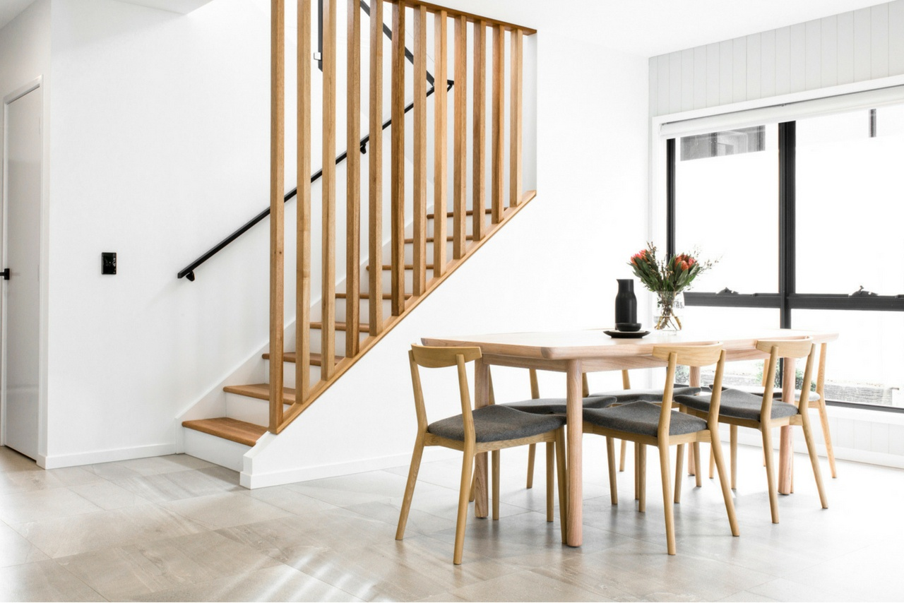 DC Living Dining Room Timber Screen Staircase